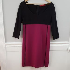 Narciso Rodriguez Black Mulberry Dress Color Block
